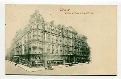 Vintage Postcard CHICAGO IL PALMER HOUSE Hotel on State Street UDB early