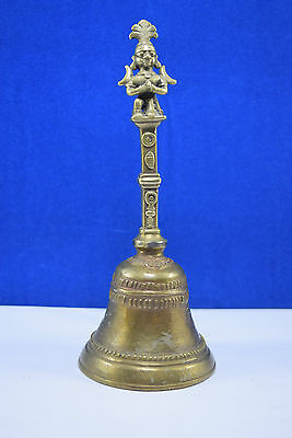 Rare Unique Indian God Figure Brass Handcrafted Temple Bell. G70-233