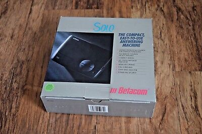 NEW Vintage Betacom Solo Micro Cassette Answering Machine Grey