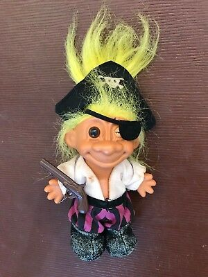 Vintage retro RUSS ? PIRATE With EYE PATCH & MUSKET GUN TROLL DOLL