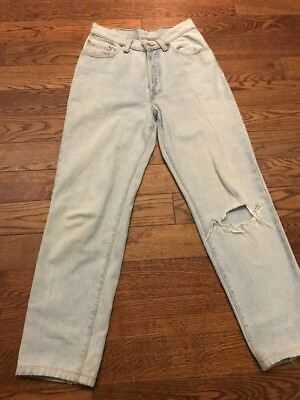Vintage Levis 501 Made In USA Distressed Women Jeans - 5 Short/ 25 X 26.5