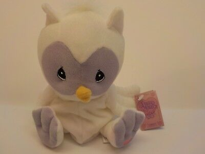 Enesco Precious Moments White Owl Bean Bag Plush Tender Tails New