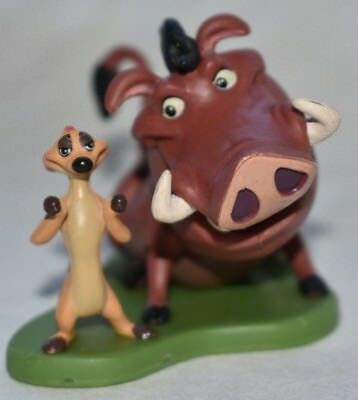 Disney Store Authentic TIMON & PUMBAA LION GUARD FIGURINE Cake TOPPER KING NEW