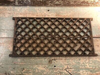 Antique Cast Iron Foundation Vent Screen Grid Architectural Salvage Steampunk