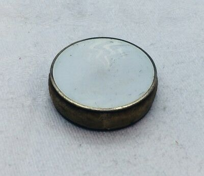 David Andersen Antique Sterling Silver White Enamel Small Travel Pin Cushion