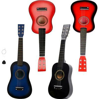 """4 Colors 23""""  Wooden Acoustic Guitar with 6 Strings Musical Instrument Kids"""