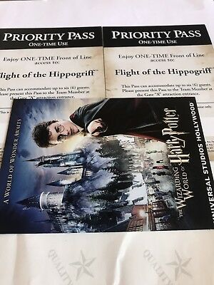 Universal Studios Hollywood Priority Passes  Harry Potter Flight Hippogriff