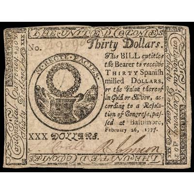 CONTINENTAL CONGRESS CURRENCY, TWO CERTIFIED BALTIMORE ISSUE NOTES FEB... Lot 83