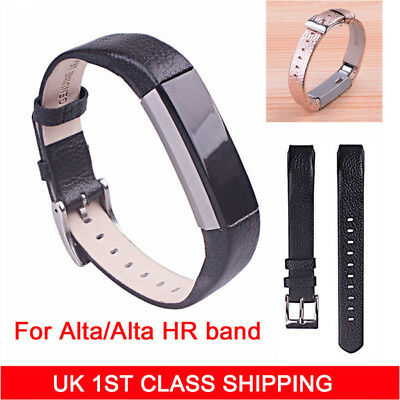 Genuine Leather Replacement Wristband Watch Band Strap For Fitbit Alta / Alta HR