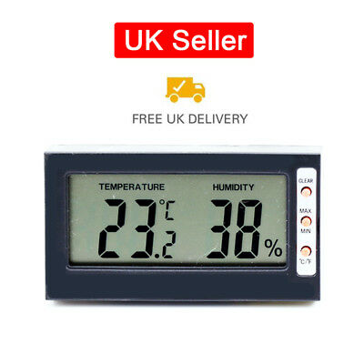 Digital Temperature Thermometer Humidity Meter Hygrometer for Cars Home Office