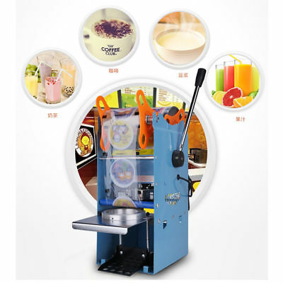 270W Electric Automatic Tea Drink Cup Sealer Sealing Machine Bubble 300 Cups/hr