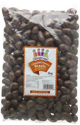 Milk Chocolate Covered Brazil Nut Brazils Nuts Sweets Kingsway 500g to 3kg Bags