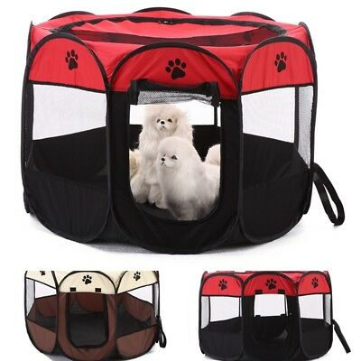 1Pc Oxford Pet Dog Cat Playpen Tent Portable Fence Outdoor Kennel Cage Crate Bag