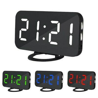 "Digital Clock with Large 6.5"" LCD Display, Dimming Mode, Easy Snooze Function AU"
