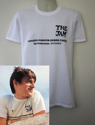 The Jam 1980 tour t-shirt worn by Paul Weller  the clash the who Style Council