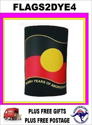 Aboriginal flag Indigenous flag stubby can drink bottle cooler + FREE gifts