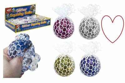 Glitter mesh balls anti-stress sensory squishy fun relief