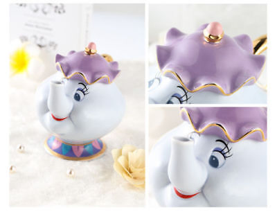 Cartoon Beauty And The Beast Teapots Mug Mrs. Potts Chip Tea Pot and Cup Set New