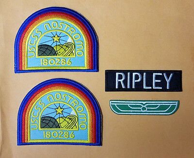 Alien Nostromo Ripley Costume Set of Patches. Your choice buy individual or set