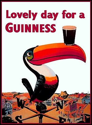 Lovely Day Guinness Beer Ireland Great Britain Vintage Travel Art Poster Print 2