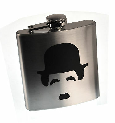 Charlie Chaplin Moustache Hip Flasque