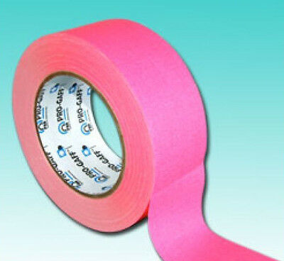 ProGaff Neon Hi Vis Colour Gaffer Tape UV FLUORESCENT 50mm 25M HOOP Pink 1 Roll
