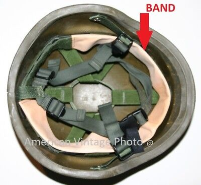 Helmet Leather Band Liner Strap for PASGT M1 Steel Pot Military Army USMC & P38