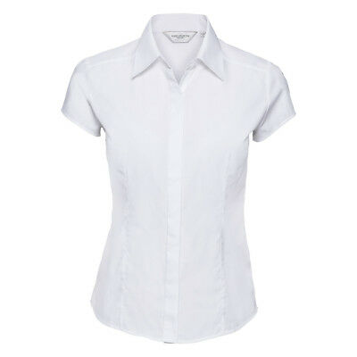 Russell Collection 953F WHITE Ladies Womens Blouse Shirt 3//4 Sleeve UK14  Medium