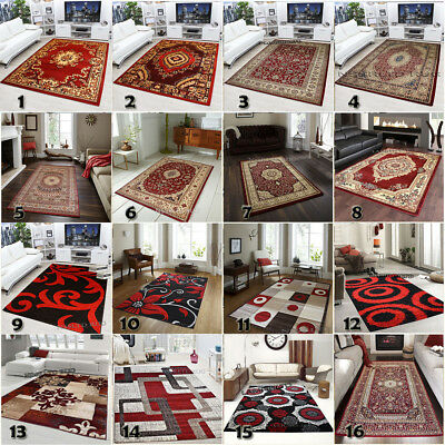 Modern & Traditional High Quality Red Rugs Small XL Carpet Free Postage