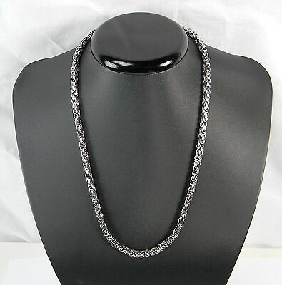 King's Chain Stainless Steel Curb Chain Unisex Necklace 60cm 4x4mm Silver kk09