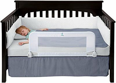 hiccapop Convertible Crib Toddler Bed Rail Guard with Reinforced Anchor Safety