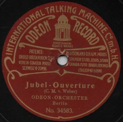 """78er Odeon-Orchester Berlin """"Jubel-Ouverture"""""""