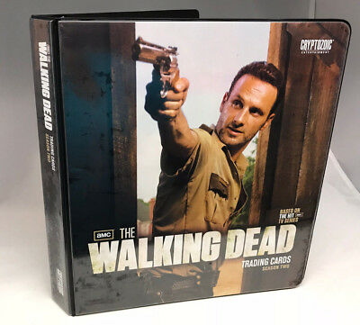 BINDER SALE: ALBUM for THE WALKING DEAD SEASON TWO AMC Cards By Cryptozoic 2012