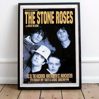 The Stone Roses 1989 Early Concert Poster Print Three Sizes NEW Exclusive