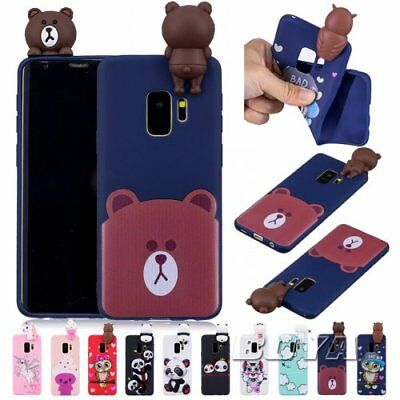 For Sumsung Soft TPU  Phone case rubber Unicorn Owl  Panda  Bear patterns cover