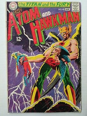 The Atom and Hawkman #40, (1968) VG Shape, DC Comics, Free Shipping!