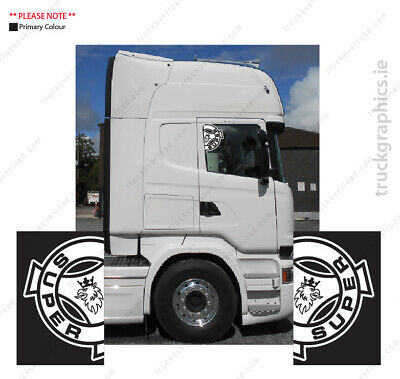 SCANIA SUPER - Side Window Decal Sticker Emblem Scania