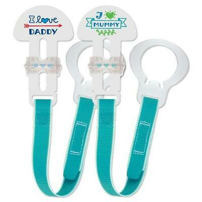 MAM Soother Clips (2 Pack), Dummy Clips/Holders