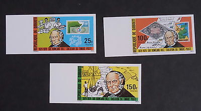 Djibouti 1979 Death Cent Rowland Hill Imperf SG757/9 MNH UM unmounted mint