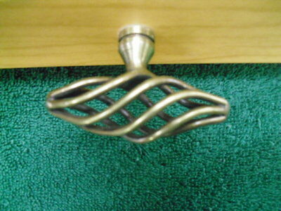 """Style Selections, Antique brass finish,12 Twisted cage, cabinet knobs, 2.05"""""""