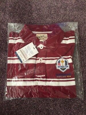 Official Ryder Cup 2014 Gleneagles Polo Shirt Golf Large Boys Brand New