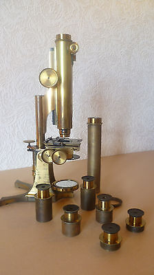 Antique Brass Binocular Microscope by Smith, Beck & Beck, of 31 Cornhill. London