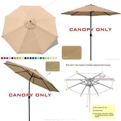 220b84124595 ABCCANOPY (23+ Colors 9ft Market Umbrella Replacement Canopy 8 ...