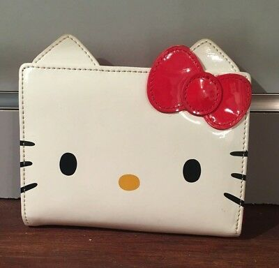 Vinyl Hello Kitty Wallet, White and Red
