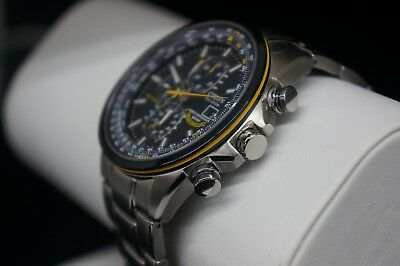 New Citizen At8020-54L Blue Angels Eco-Drive Chrono. Date Stainless Steel Watch