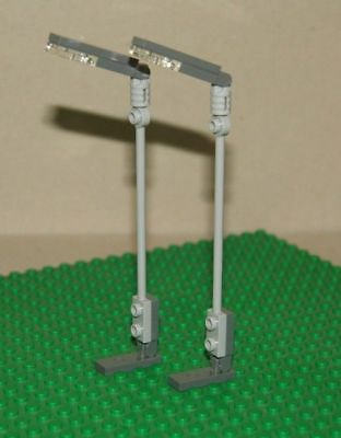 LEGO 11062 1 Per Order NEW BLACK 2X2X7 Lamp Post Base Flute With Red Light