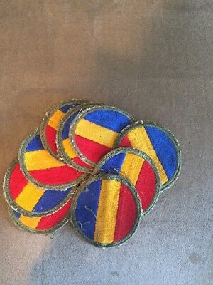 Lot of 9 WWII Original Replacement & School Command Patch