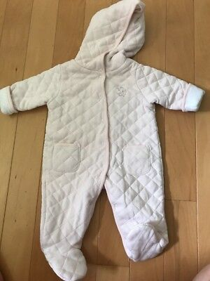 5a761a803bf2 NEW LITTLE ME Baby Girl Quilted Snowsuit Pink Size 0-3 Months ...