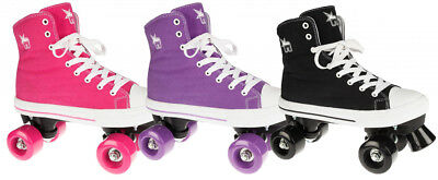 Rookie Canvas High Kids Quad Roller Skates - Assorted Colours - Jnr13 to UK6