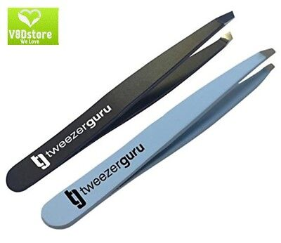 TweezerGuru Slant Tweezers - Professional Stainless Steel Slant Tip Tweezer - Th